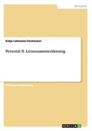 Personal II. Lernzusammenfassung