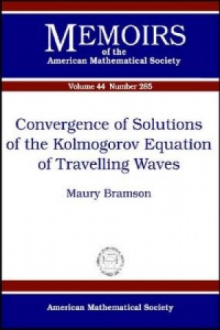 Convergence of Solutions of the Kolmogorov Equation of Travelling Waves