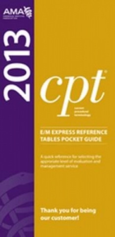 CPT 2013 E/M Express Reference Tables Pocket Guides