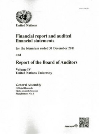 Financial Report and Audited Financial Statements for the Biennium Ended 31 December 2011 and Report of the Board of Auditors