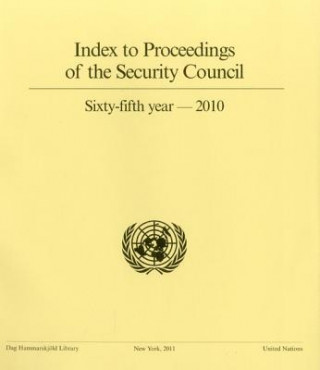 Index to Proceedings of the Security Council Sixty-Fifth Year