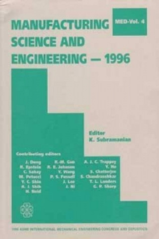 Manufacturing Science and Engineering