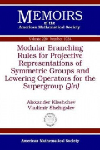 Modular Branching Rules for Projective Representations of Symmetric Groups and Lowering Operators for the Supergroup Q(n)