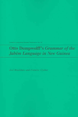 Otto Dempwolff's Grammar of the Jabem Language in New Guinea