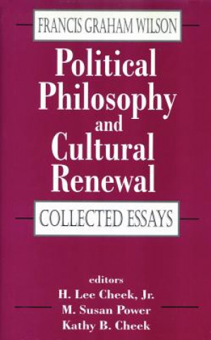 Political Philosophy and Cultural Renewal
