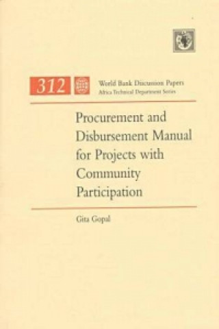 Procurement and Disbursement Manual for Projects with Community Participation