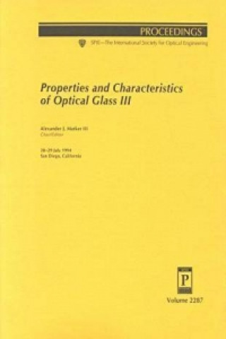 Properties and Characteristics of Optical Glass III