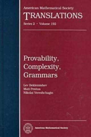 Provability, Complexity, Grammars