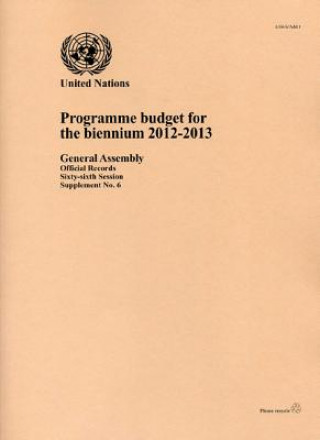 Programme Budget for the Biennium
