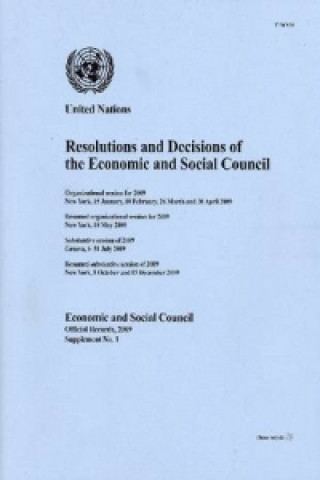 Resolutions and Decisions of the Economic and Social Council