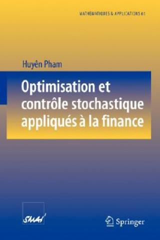 Carte Optimisation Et Controle Stochastique Appliques A La Finance Huy N Pham