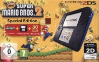 Nintendo 2DS Black + New Super Mario Bros. 2, Nintendo 3DS-Spiel, Limited Edition