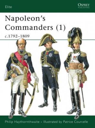 Carte Napoleon's Commanders Philip J. Haythornthwaite