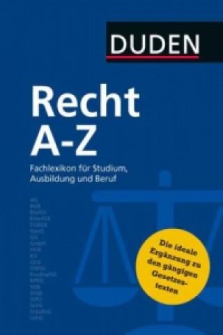 Könyv Duden Recht A - Z
