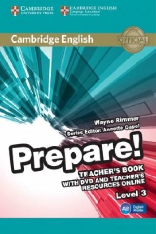 Cambridge English Prepare! Level 3 Teacher's Book with DVD a