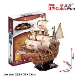 Puzzle 3D Santa Maria - 113 dílků