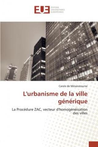 Carte L'Urbanisme de la Ville G n rique de Mesanstourne-C