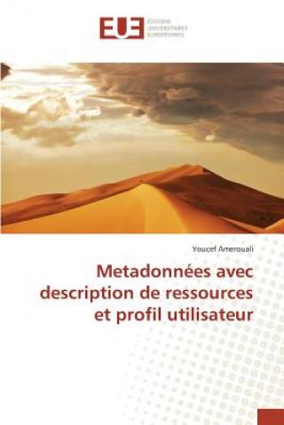 Könyv Metadonn es Avec Description de Ressources Et Profil Utilisateur Amerouali Youcef