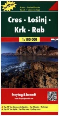 Cres - Lo Inj - Krk - Rab  Road Map 1:100 000