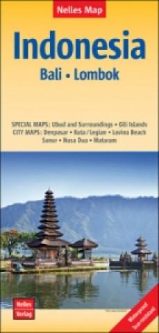 Materiale tipărite Nelles Map Landkarte Indonesia : Bali, Lombok