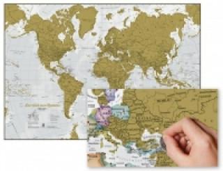 Materiale tipărite Die Welt zum Rubbeln. Scratch Map Deutsch