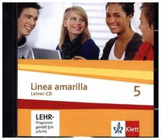 Audio Línea amarilla 5. Spanisch als 2. Fremdsprache. Lehrer-CD