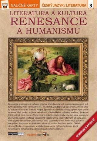 Naučné karty Literatura a kultura renesance a humanismu