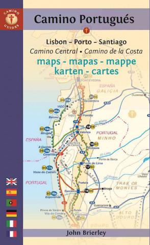 Camino Portugues Maps - Mapas - Mappe - Karten - Cartes: Lisboa - Porto - Santiago / Camino Central - Camino de La Costa