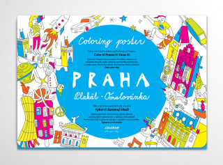 Tiskovina Praha - Plakát omalovánka Tero Abaffy