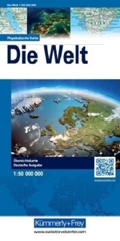 Kümmerly & Frey Poster Die Welt, physikalische Karte