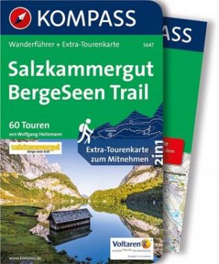 Carte Salzkammergut BergeSeen Trail Wolfgang Heitzmann