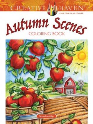Carte Creative Haven Autumn Scenes Coloring Book Teresa Goodridge