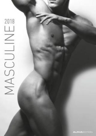 Masculine 2018 - Men - Bildkalender A3 - schwarz/weiß - Erotikkalender