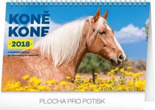 Kalendář stolní 2018 - Koně – Kone CZ/SK, 23,1 x 14,5 cm