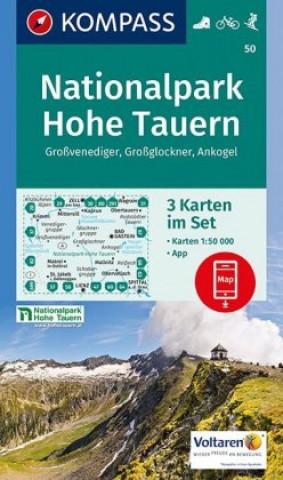Materiale tipărite NP Hohe Tauern 50 NKOM 1:50T Kompass-Karten Gmbh