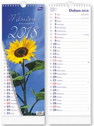 Měsíční vázanka 2018 - nástěnný kalendář