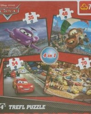 Puzzle 4w1 mix Auta 2