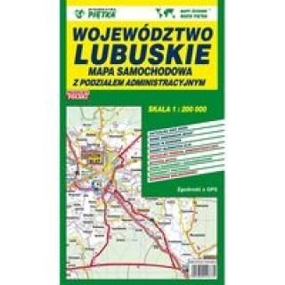 Województwo lubuskie Mapa samochodowa 1:200 000