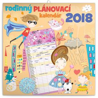 Rodinný plánovací - nástěnný kalendář 2018