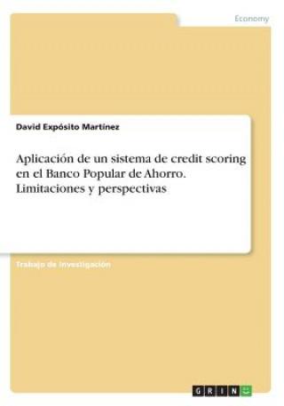 Carte Aplicacion de un sistema de credit scoring en el Banco Popular de Ahorro. Limitaciones y perspectivas David Exposito Martinez