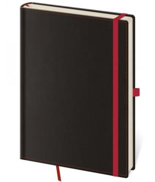 Zápisník Black Red L linkovaný