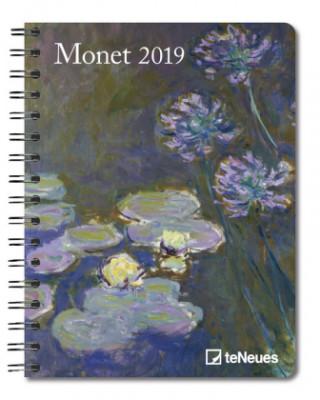 2019 MONET DELUXE DIARY 165 X 216 CM