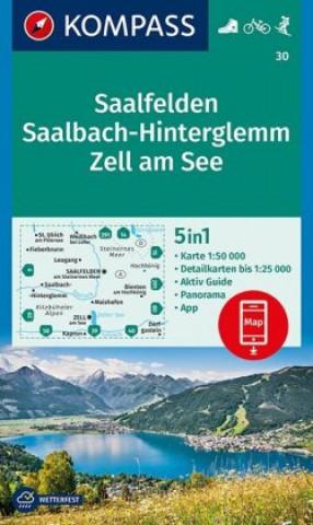 KOMPASS Wanderkarte Saalfelden, Saalbach-Hinterglemm, Zell am See 1 : 50 000
