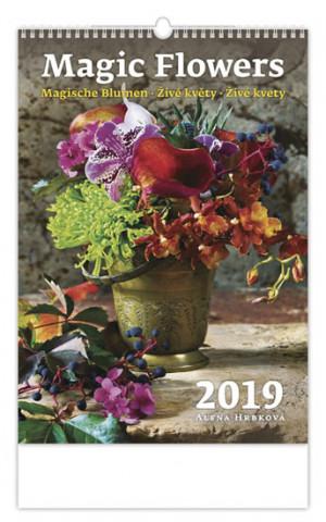 Živé květy - nástěnný kalendář 2019