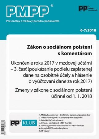 PMPP 6-7/2018 Zákon o sociálnom poistení s komentárom