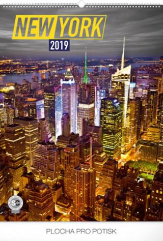 New York 2019, 48 x 64- nástěnný kalendář 2019