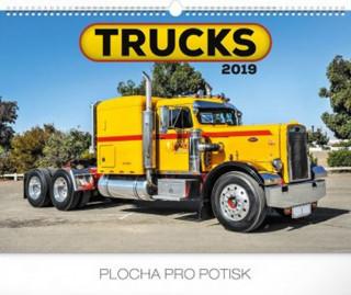 Trucks 2019, 48 x 33 c- nástěnný kalendář 2019