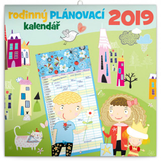 Rodinný plánovací kalendář 2019