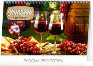 Putování za vínem 2019,- stolní kalendář 2019