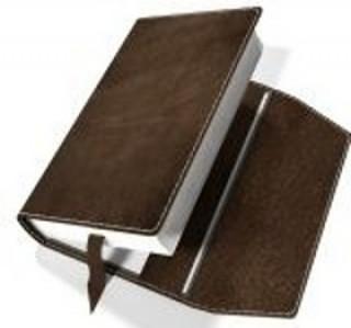 Obal na knihu kožený se záložkou Hnědý